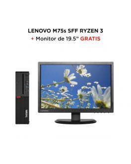 "ThinkCentre M75 Tiny (AMD) + Monitor ThinkVision E2054 de 19.5"" LED"
